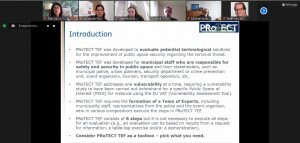 How to choose the most relevant technologies to protect urban public spaces? A web conference of the PRoTECT project