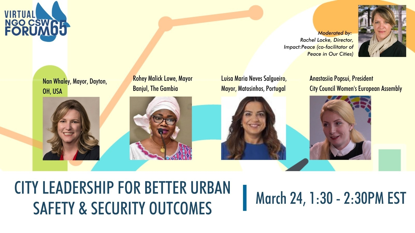 Women mayors and city-based initiatives to counter most serious forms of violence